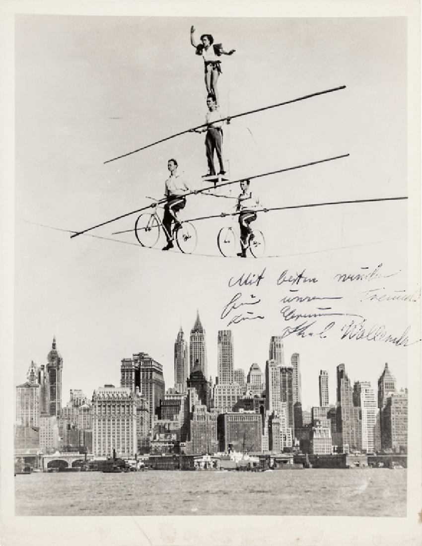 Flying KARL WALLENDA Inscribed Signed Photograph