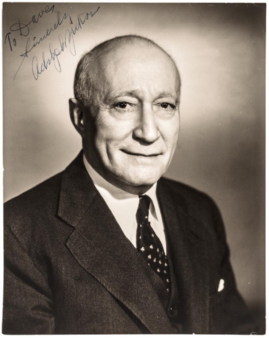 ADOLPH ZUKOR Signed Gelatin Silver Photograph