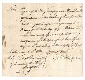 1765 COUNTERFEITER Jailed and Hanged April 1773