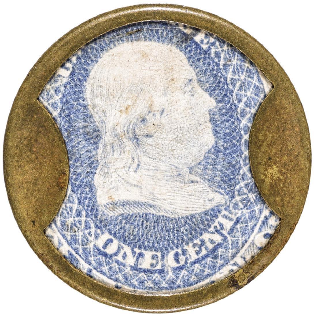 Encased Postage Stamp EP-8 1¢ F BUHL + CO Detroit