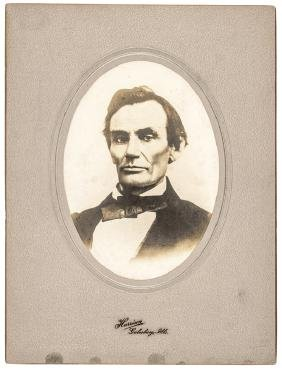 Oct. 1858 Rare Early ABRAHAM LINCOLN Photograph!