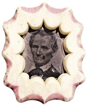 c. 1860, Abraham Lincoln Tintype Photo Pinback
