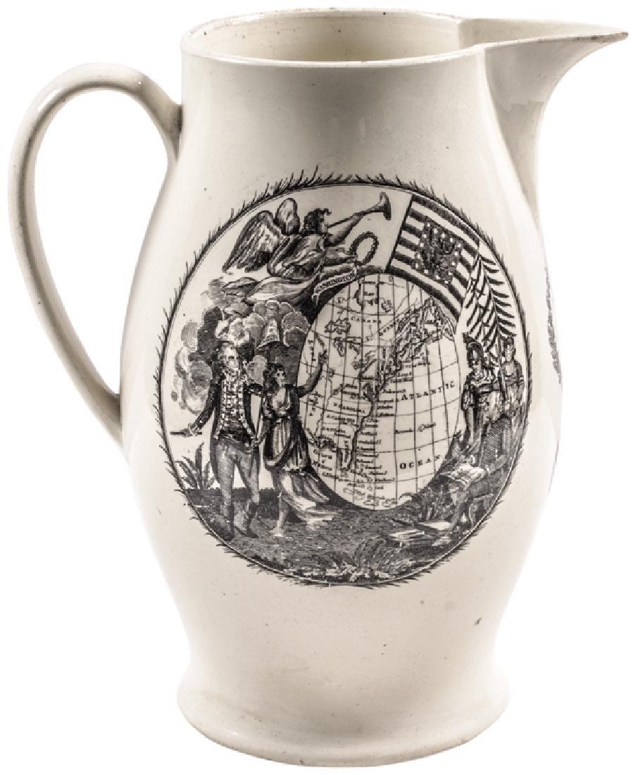c 1797 President JOHN ADAMS Liverpool Creamware!