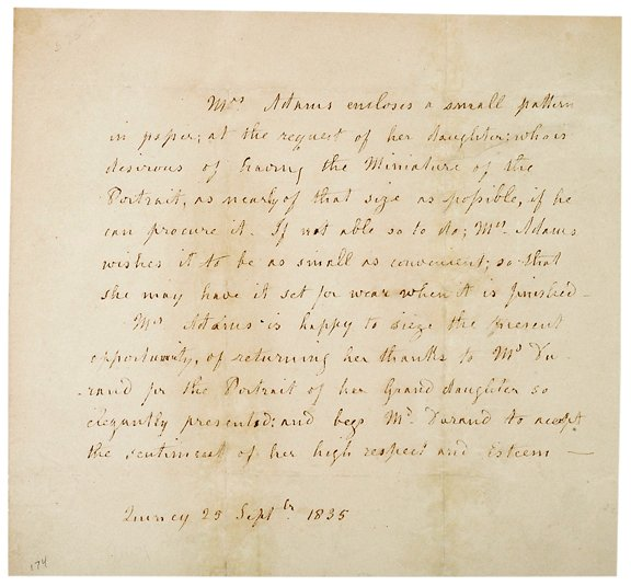 3: Louisa C. Adams Letter, Sept. 1835,Quincy, MA