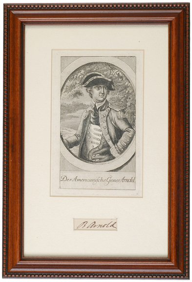 9: c.1780 Benedict Arnold Signature and Portrait