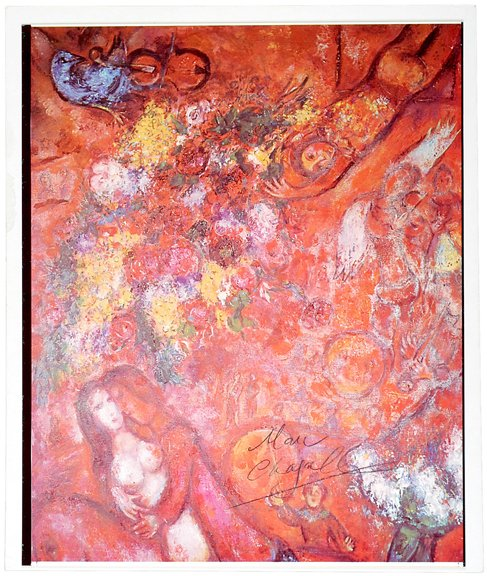 21: Marc Chagall Signed Color Print
