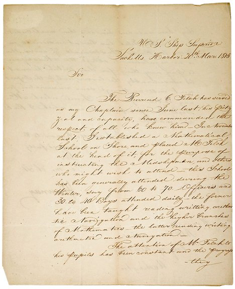 22: Isaac Chauncy Signed Document, 1815