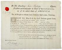 183: John Rutledge Signed Privateer Commission