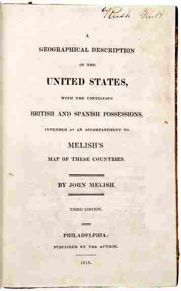 357: 1818 Book on Geography of United States