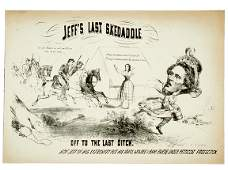 Civil War Caricature-Capture of Jeff Davis