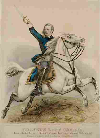 505: 1876 Currier and Ives - Custer Last Charge
