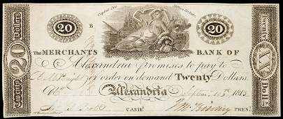 811: Obsolete Currency, Alexandria, DC, $20