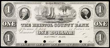 895: Obsolete Currency, Taunton, MA, $1