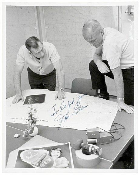 2003: Astronaut JOHN GLENN Signed Photo, 1962