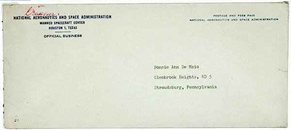 2004: ASTRONAUT GUS GRISSOM Autograph NASA Envelope