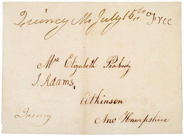 2: JOHN ADAMS & ABIGAIL ADAMS, Postal Cover Signed