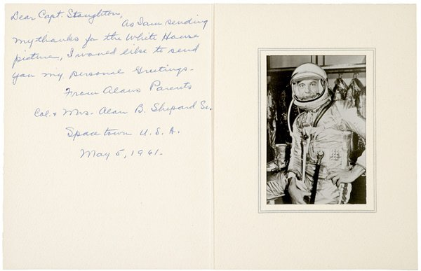 8: Astronaut ALAN SHEPARD'S FATHER, Note Signed