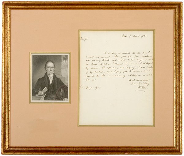 18: HENRY CLAY, Autograph Letter Signed, 1826