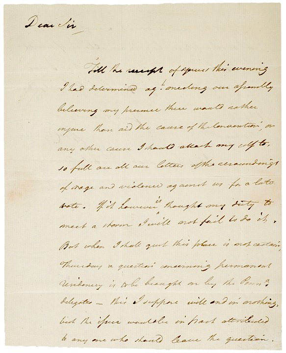 19: GEORGE CLYMER, Autograph Letter Signed, 1789