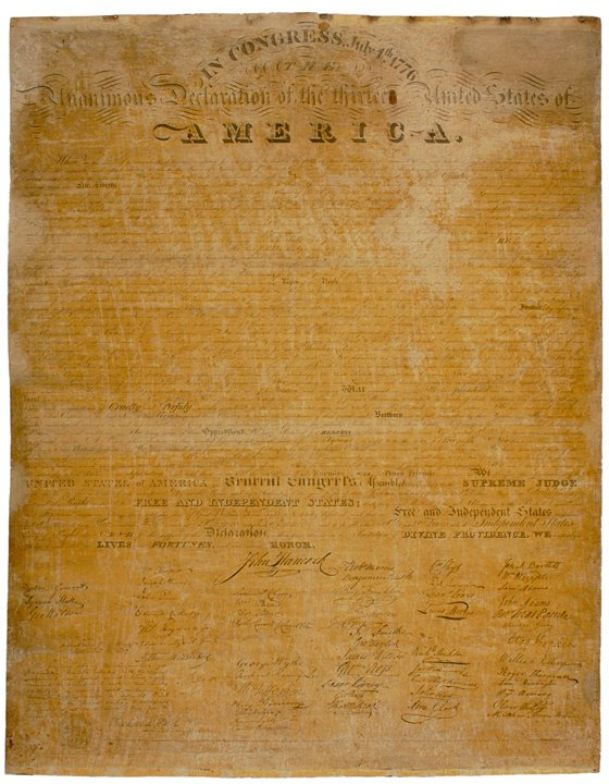 22: DECLARATION OF INDEPENDENCE, Tyler Print, 1818