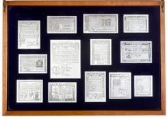 759: 1976 Bicentennial Franklin Mint 13 Colony Set