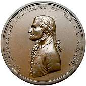 1096: 1801 Thomas Jefferson Indian Peace Medal, Uncir.