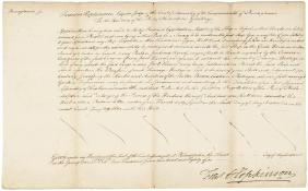 1785 Signer FRANCIS HOPKINSON Document Signed