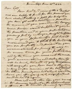 1822 ANDREW JACKSON Extraordinary Content ALS !