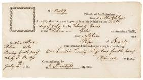 BENJAMIN LINCOLN Signed Superb Quality Document