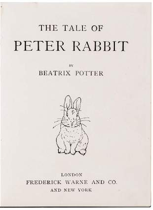 1902 1st Edition THE TALE OF PETER RABBIT Potter