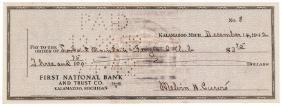 MELVIN H. PURVIS, JR. Signed Check X'd Dillinger