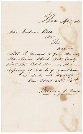 1863 Civil War (GIDEON WELLS) CSS Alabama Letter