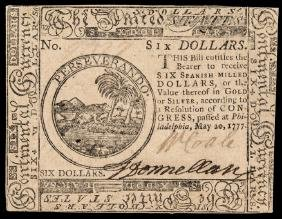 Continental Currency, May 20, 1777 UNITED STATES