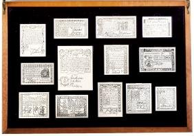 1976 Silver 13 Colony Colonial Currency Display