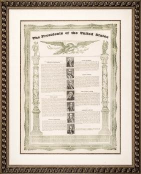c 1834 The Presidents of the United States Print