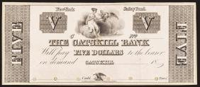 New York The Catskill Bank $5 Very Choice Proof