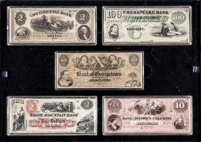 Set of 15 America's First Bank Notes Silver Set