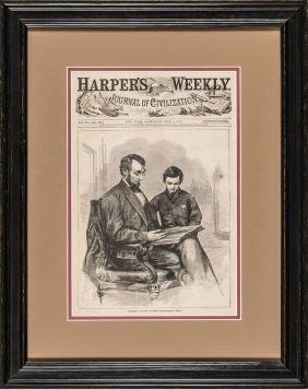 May 6, 1865, Harper's: President Lincoln At Home