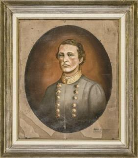 1860s Confederate JOHN SINGLETON MOSBY Painting
