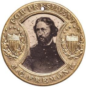 1864 J C FREMONT Presidential Campaign Ferrotype