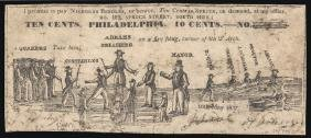 1837 Philad. Currency Political / Satirical Note