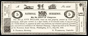 July 4, 1838 National Currency Note Illustration