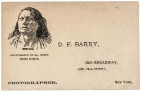 c 1870 Photographer David F. Barry Business Card