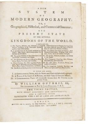 1786 Map Book: A New System of Modern Geography!