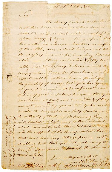 4010: 1781, Letter from Lt. Col. Henry Dearborn