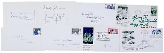 4012: Nine Celebrity Autographs: IACOCCA, FORD, others