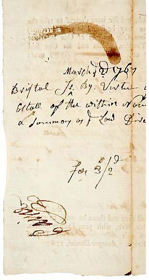 4020: ROBERT TREAT PAINE, Signed Document