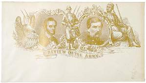 4092: Civil War Envelope Cover of Lincoln and McClellan