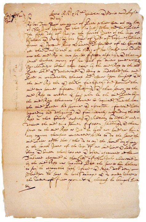 5001: NY Gov. RIP VAN DAM Signed Document  c.1700
