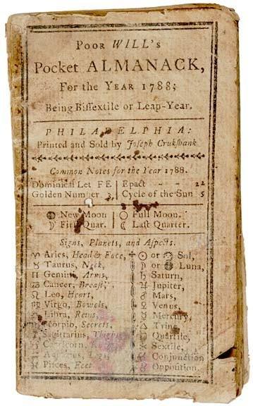 5008: 1788, Poor Wills Pocket Almanack